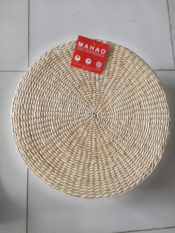 Amazon.com: MAHAO Cojín de asiento plano de paja de punto ...
