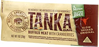 product image for Bison Pemmican Meat Bars with Buffalo & Cranberries by Tanka, Gluten Free, Beef Jerky Alternative, Slow Smoked Original, 1 Oz, Pack of 6