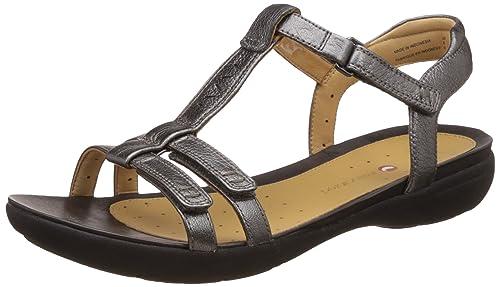 cc84b509a651a Clarks Ladies Sandal Un Vase Pewter Metallic 9.5 D  Amazon.co.uk ...