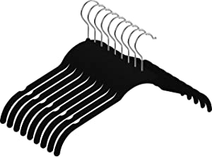 Utopia Home Velvet Shirt/Top/Dress Hangers (Black, 50-Pack) -Non-Slip Velvet Hangers - 360° Swivel Hook - For Women Clothes, Dresses, Shirts, Tops