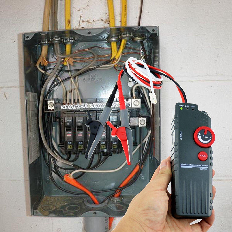 Metro Probador localizador de red de alambre cable localizador Buscador de descanso para mascotas valla Cables Cable de control aspersor Tubo de metal ...