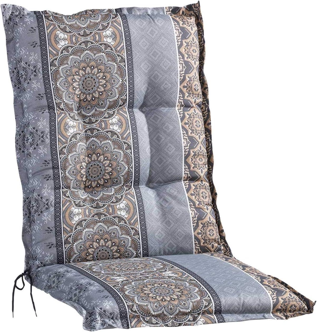 Braun Polyester Mandalamotiv Sesselauflage Sitzpolster Gartenstuhlauflage f/ür Mittellehner 50 cm x 110 cm Baumwolle