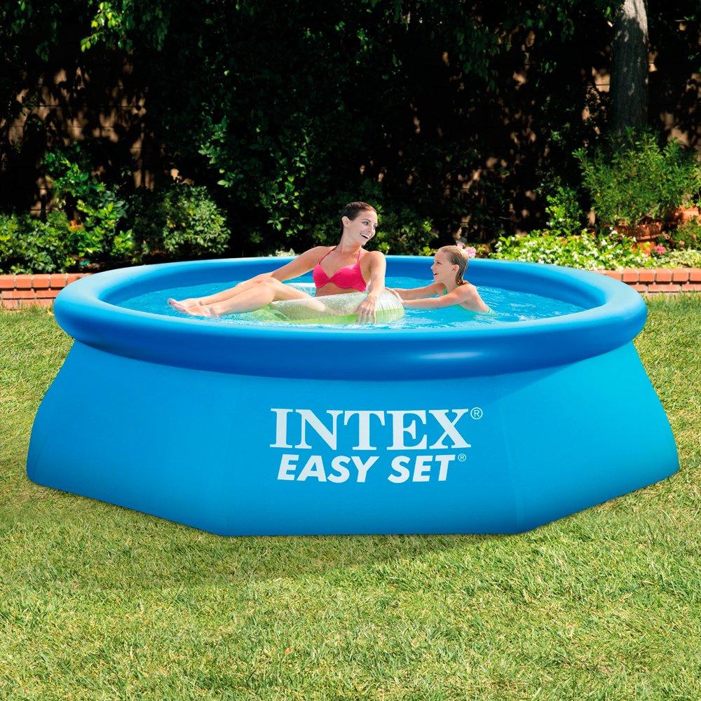 Intex Easy Set Inflatable Swimming Paddling Pool Blue 8 X 30