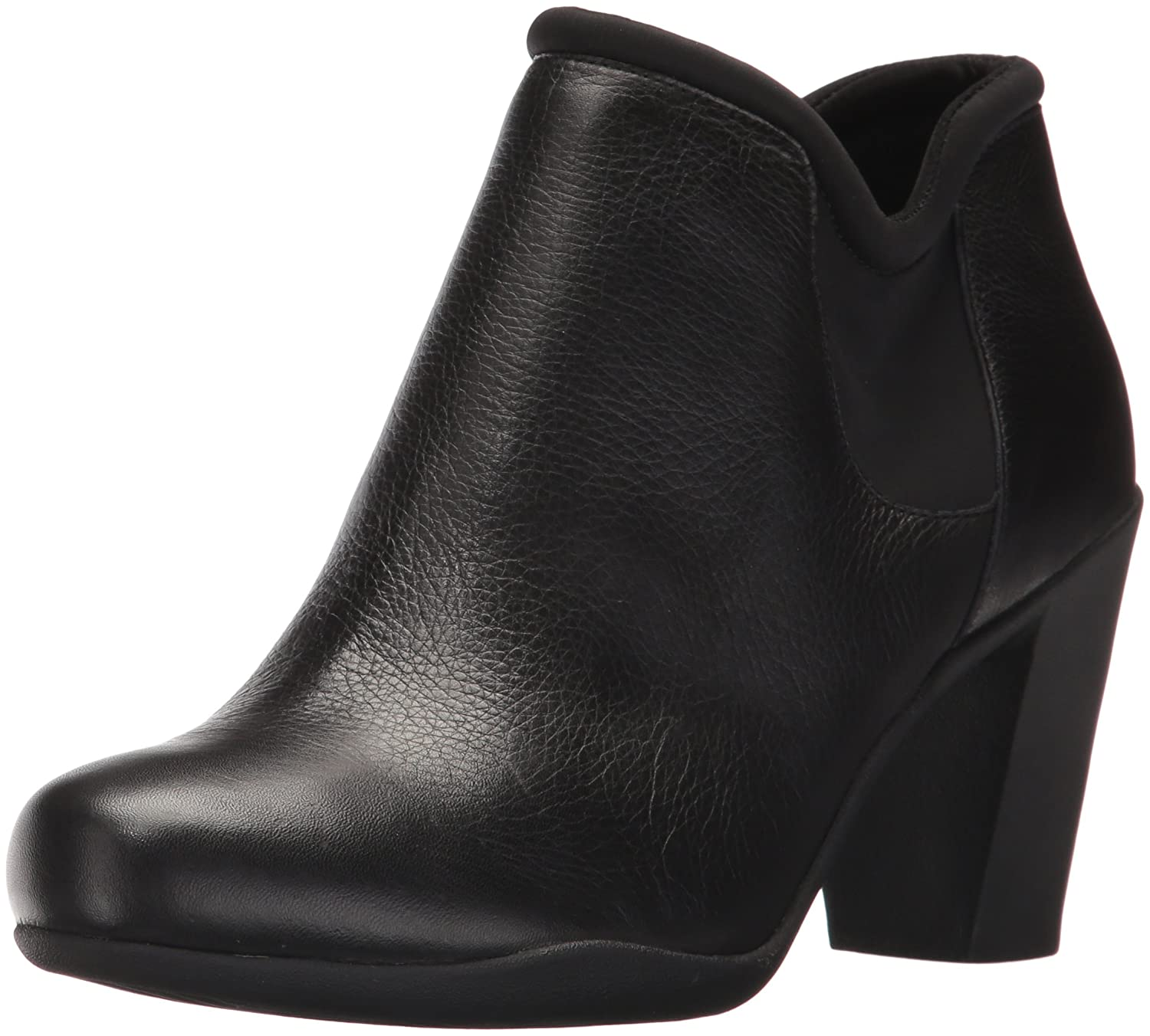 CLARKS Women's Adya Bella Ankle Bootie B01N0T6IAI 9.5 W US|Black Leather