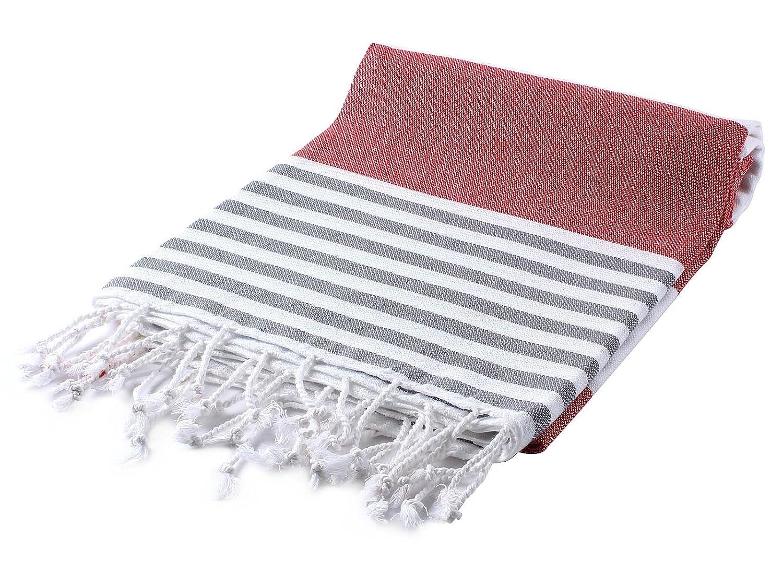 Cacala Marina Series Turkish Hammam Bath Towels, Traditional Peshtemal Design for Bathrooms, Beach, Sauna, Ultra-Soft, Fast-Drying 37x70 100% Natural Cotton, Blue, 37 x 70-Inch