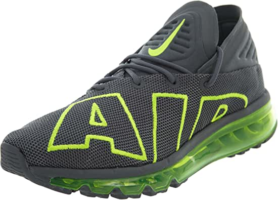 Nike Air MAX Flair Hombre Running Trainers 942236 Sneakers Zapatos (UK 7 US 8 EU 41, Dark Grey Volt 008): Amazon.es: Zapatos y complementos