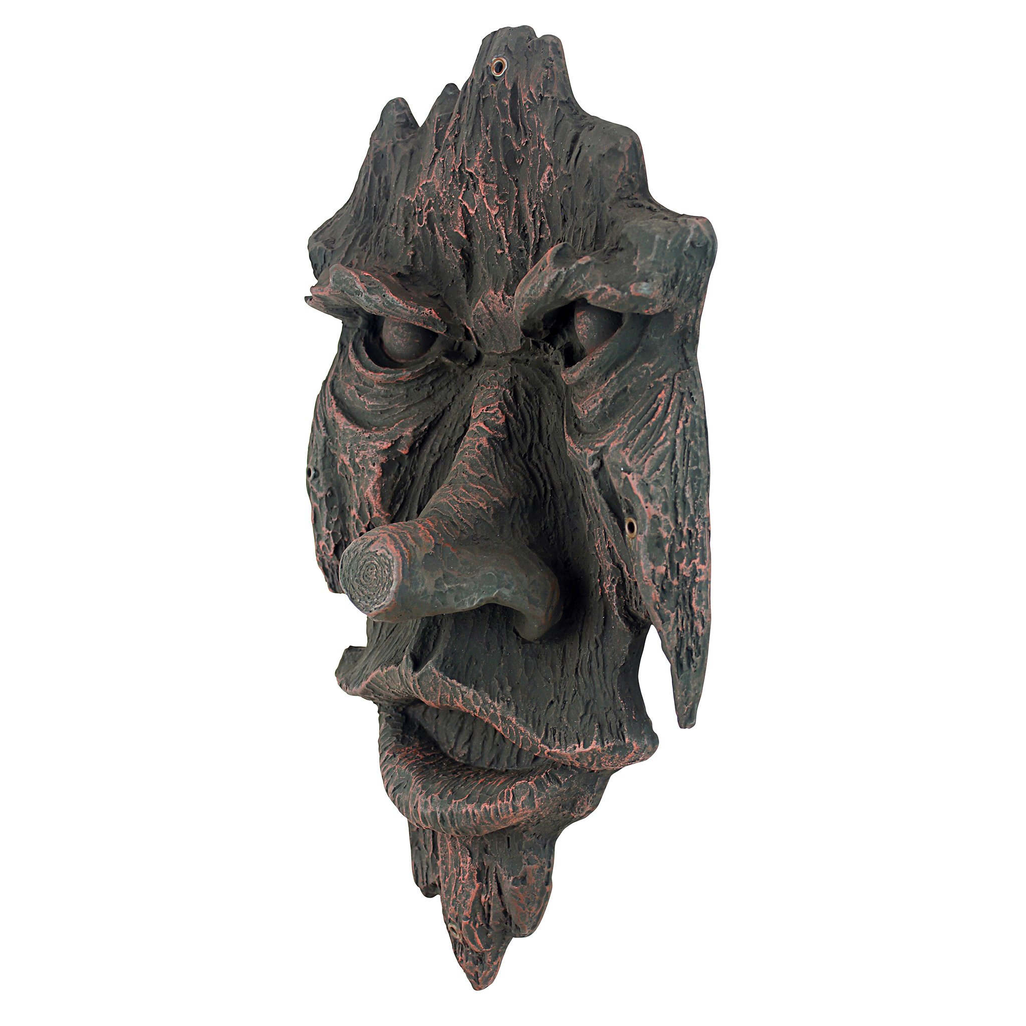 Design Toscano The Spirit of Nottingham Woods Greenman Wall Sculpture, 38 cm, Polyresin, Woodtone
