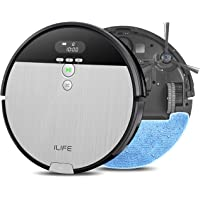 ILIFE V8s, 2-in-1 Robot Vacuum and Mop, Big 750ml Dustbin,Enhanced Suction Inlet,Zigzag Cleaning Path,Ideal for Pet Hair…