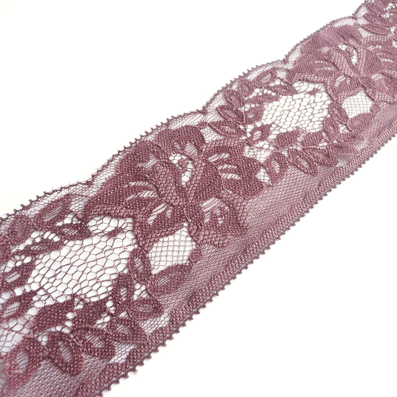 Dainty feines flaches Spitzenbesatz mit Scallop-Edge/ Antik-Cremewei/ß /Meterware Spitze /nicht-stretch/ /65/mm 6,3/cm breit/ 65 mm