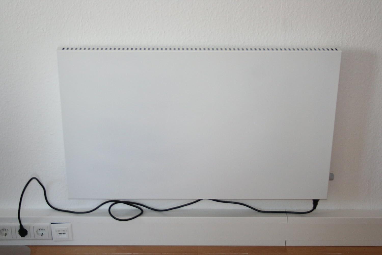 Glaswärmt Germany Infrarotheizung 1000 Watt Heizung Dreh/Thermostatregler Elektroheizung