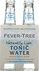 Fever-Tree Naturally Light Indian Tonic Water, 6.8 Fl Oz (Pack of 4)
