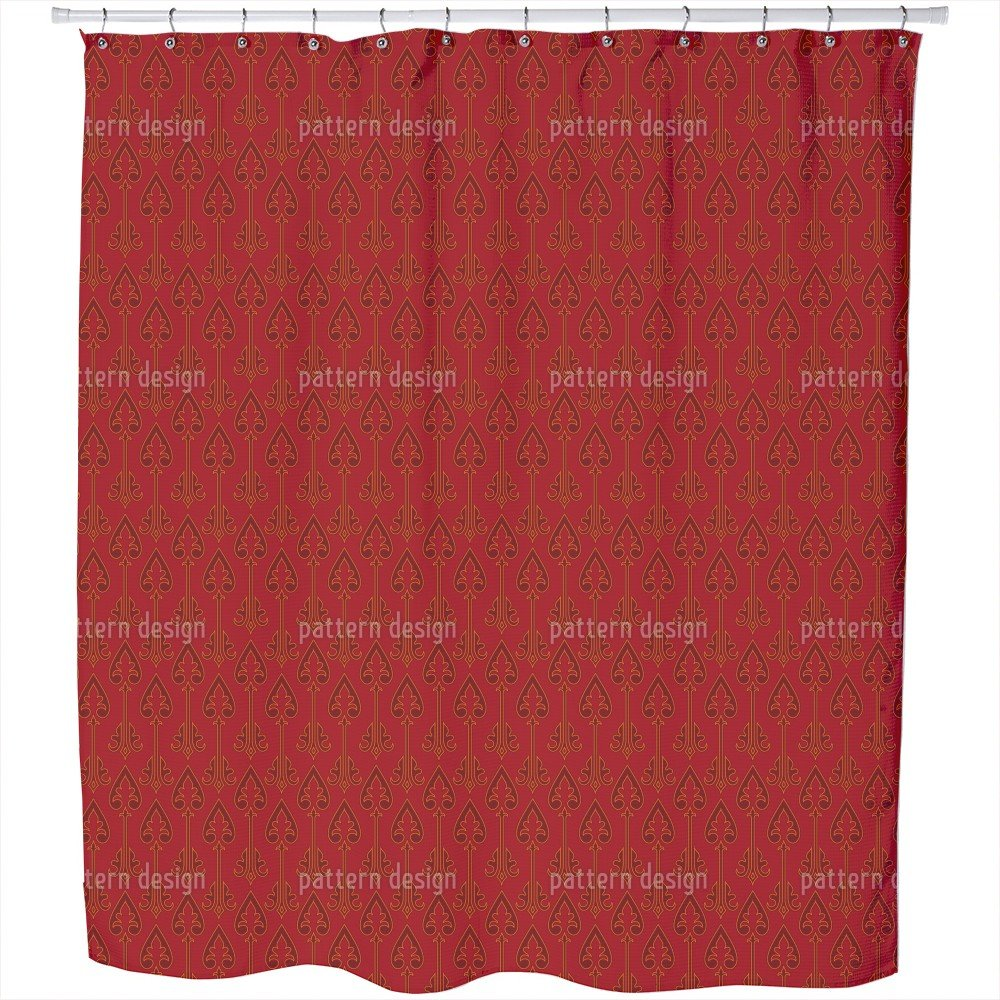 Uneekee Kings Of Hearts Shower Curtain: Large Waterproof Luxurious Bathroom Design Woven Fabric