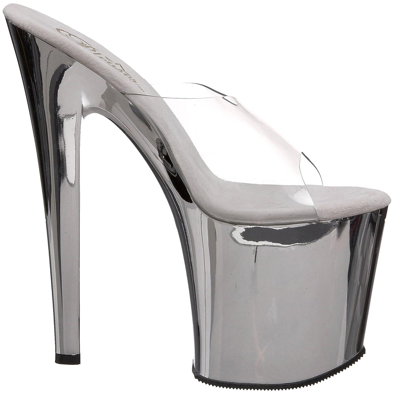 Pleaser Women's Tab00-701SCH Platform Sandal Chrome B00193XK22 7 B(M) US|Clear/Silver Chrome Sandal e062e8