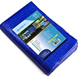 12X12 Waterproof Multi-Purpose Poly Tarp – Blue Tarpaulin Protector for Cars, Boats, Construction Contractors, Campers, and E