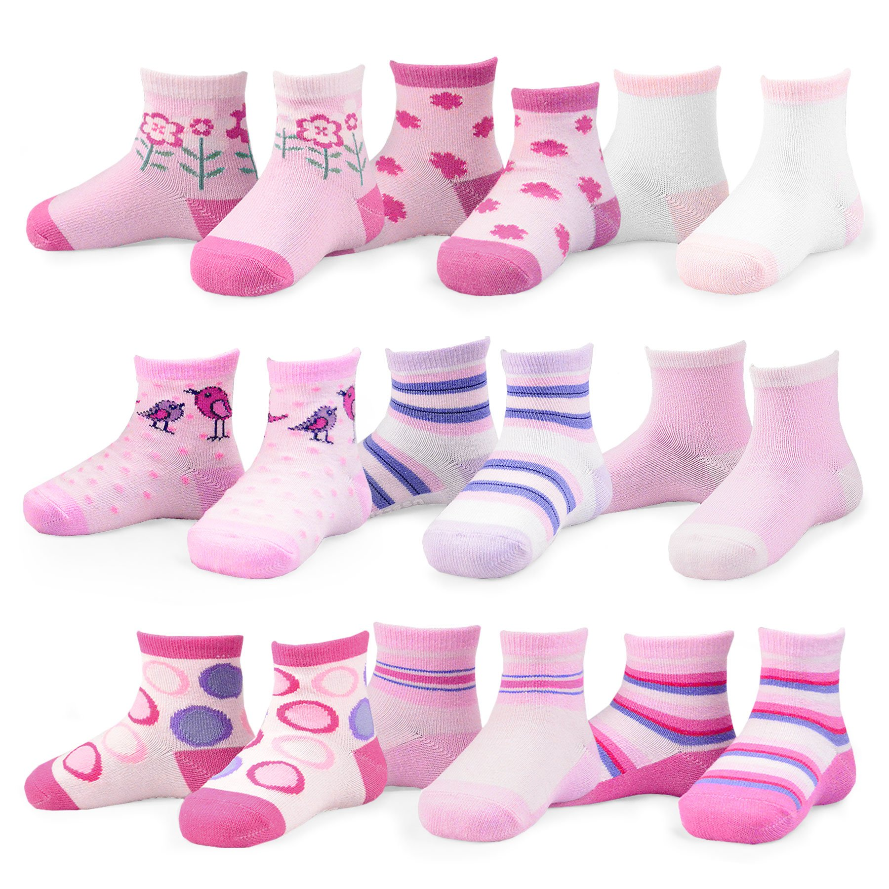 Naartjie Kids Fashion Variety Packs - 9 Or 18 Pairs Girls 9 Pairs 6-12 Months 8