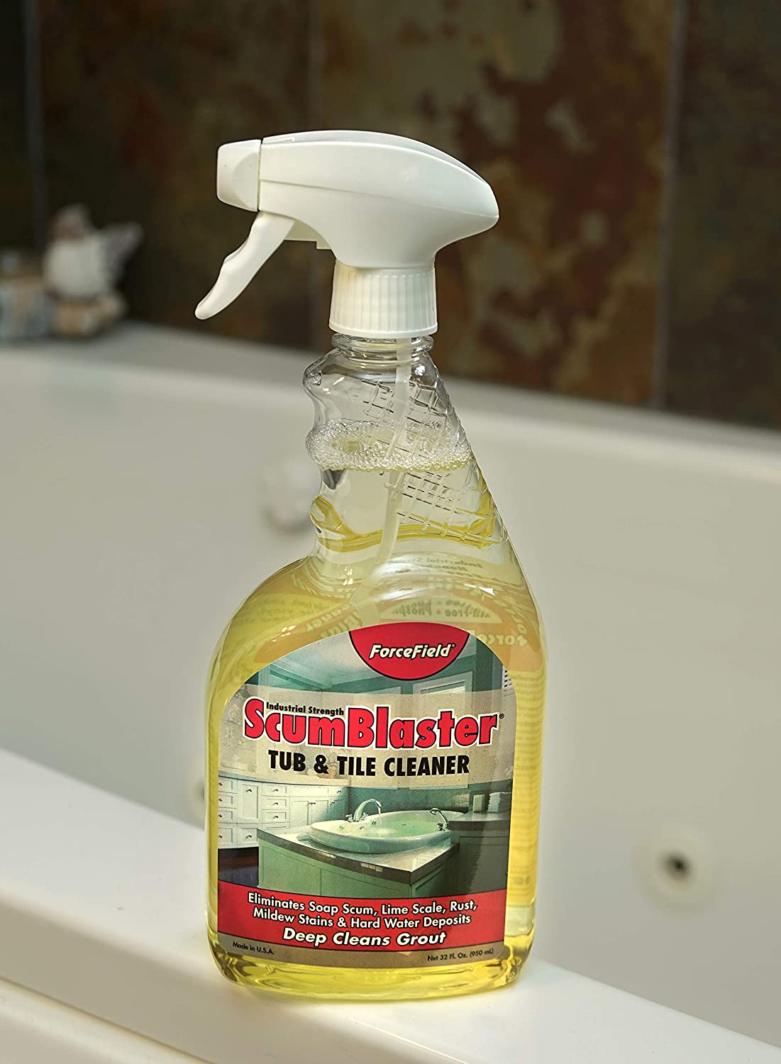 ForceField ScumBlaster Bathroom Cleaner Kit   Industrial Strength   Tile  And Grout Cleaner /u0026 Shower