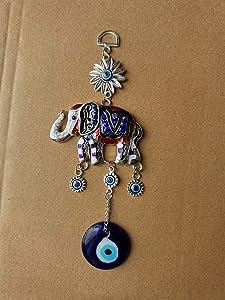 Blue Evil Eye Hanging Decoration Amulet Wall Hanging Elephant Turkey Nazar Home Decor Pendant