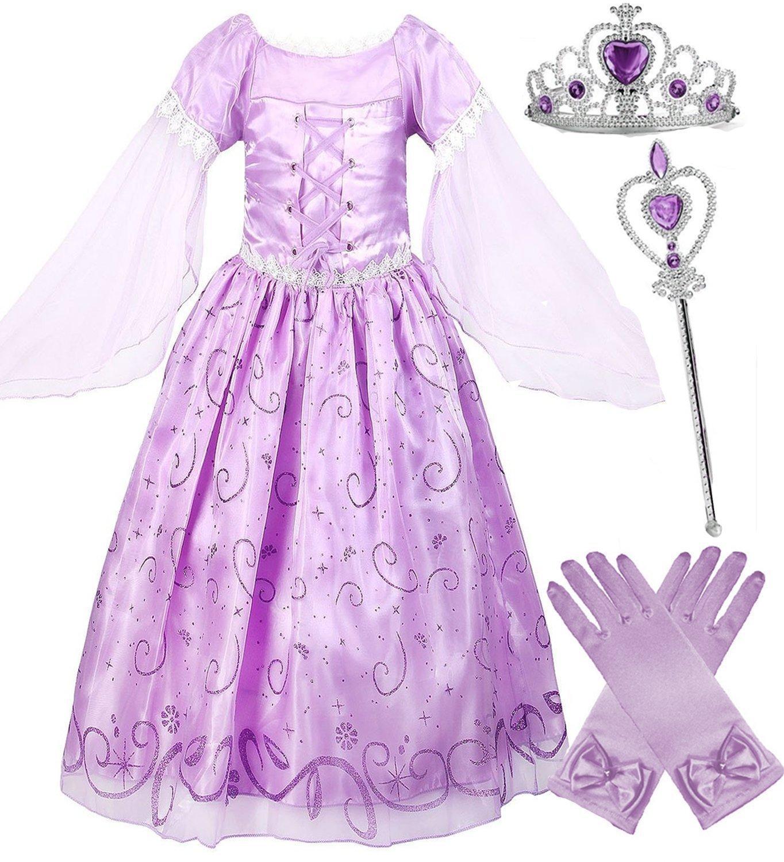 Girls Rapunzel Deluxe Princess Dress Costume (56)