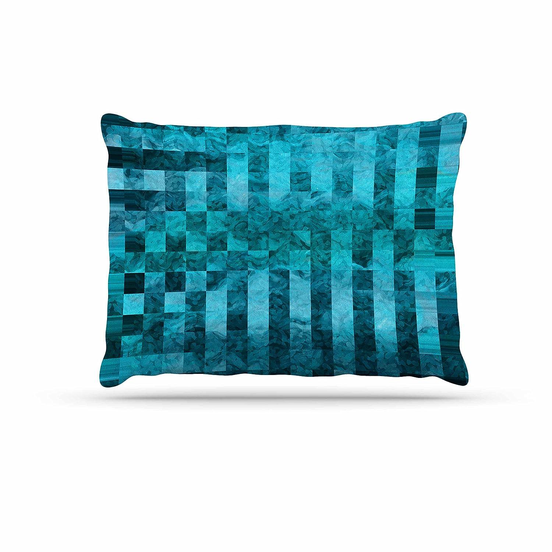 KESS InHouse Suzanne Carter Mosaic Ocean bluee Teal Pattern Dog Bed, 30  x 40