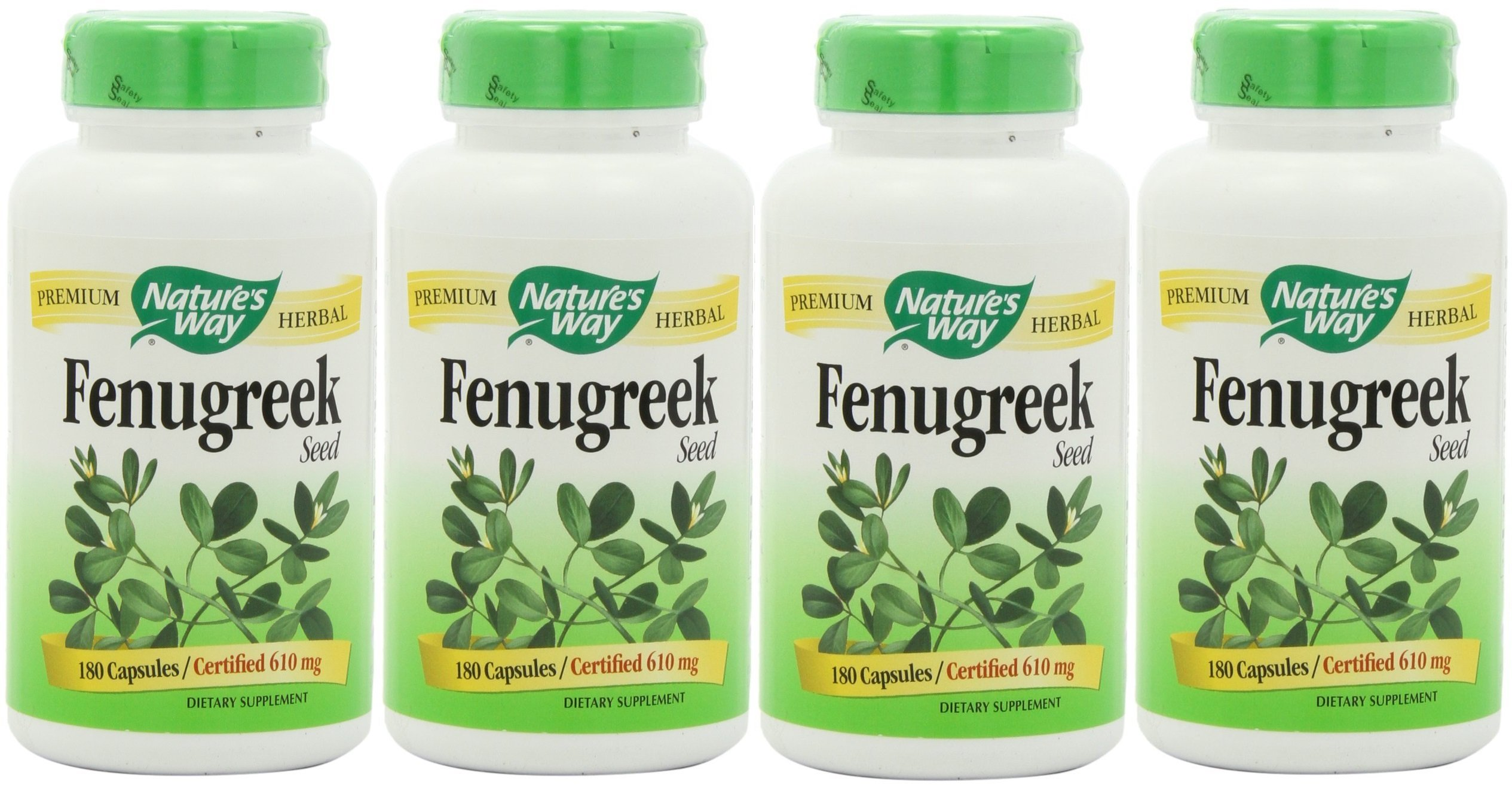 NATURE'S WAY FENUGREEK SEED, 180 Caps (Pack of 4)