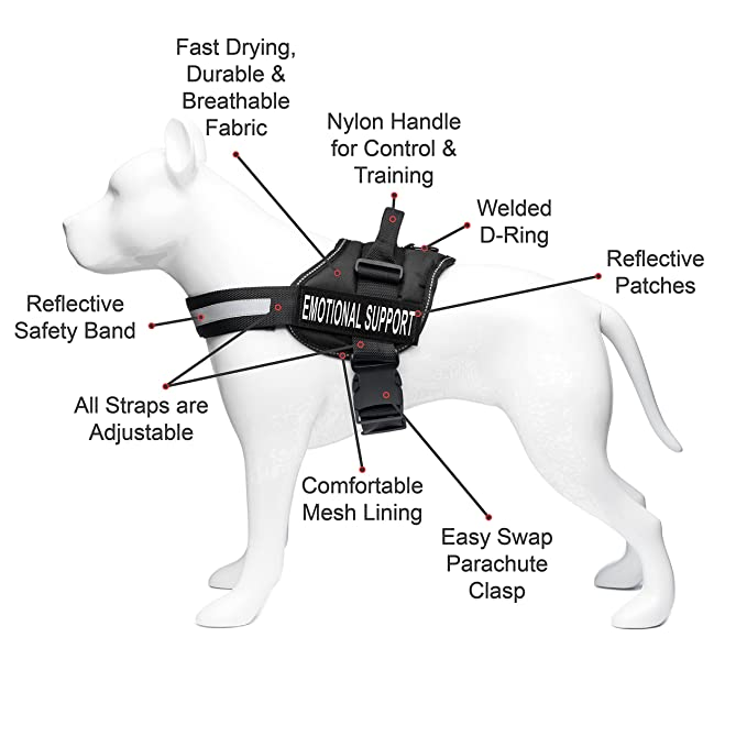 Amazon Com Industrial Puppy Emotional Support Dog Harness With
