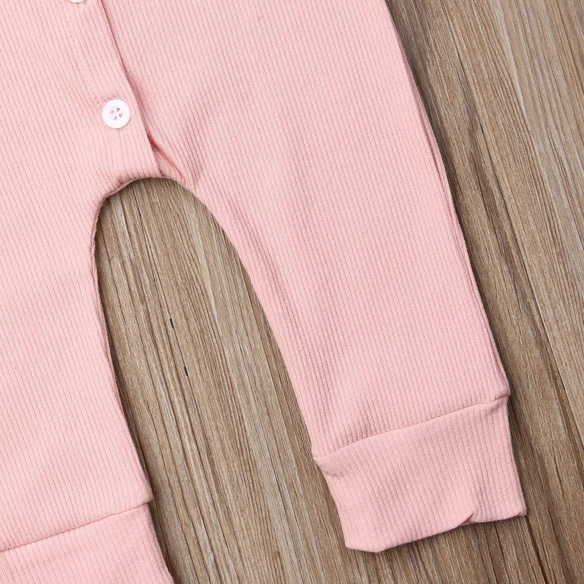 Newborn Infant Baby Girl Boy Long Sleeve Cotton Romper Sleepwear Jumpsuit One Piece Pajamas Footless Sleep and Play