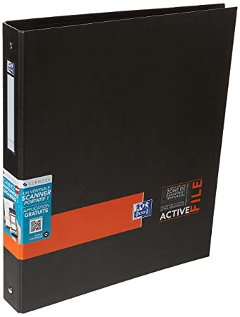oxford activefile 4 ring binder a4 40 mm spine one piece random