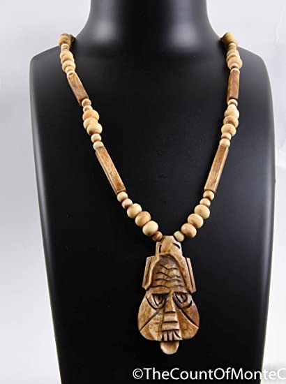 Amazon Com Vintage Carved Bone Boho Necklace Tribal Jewelry 24 Inch 517 B Everything Else