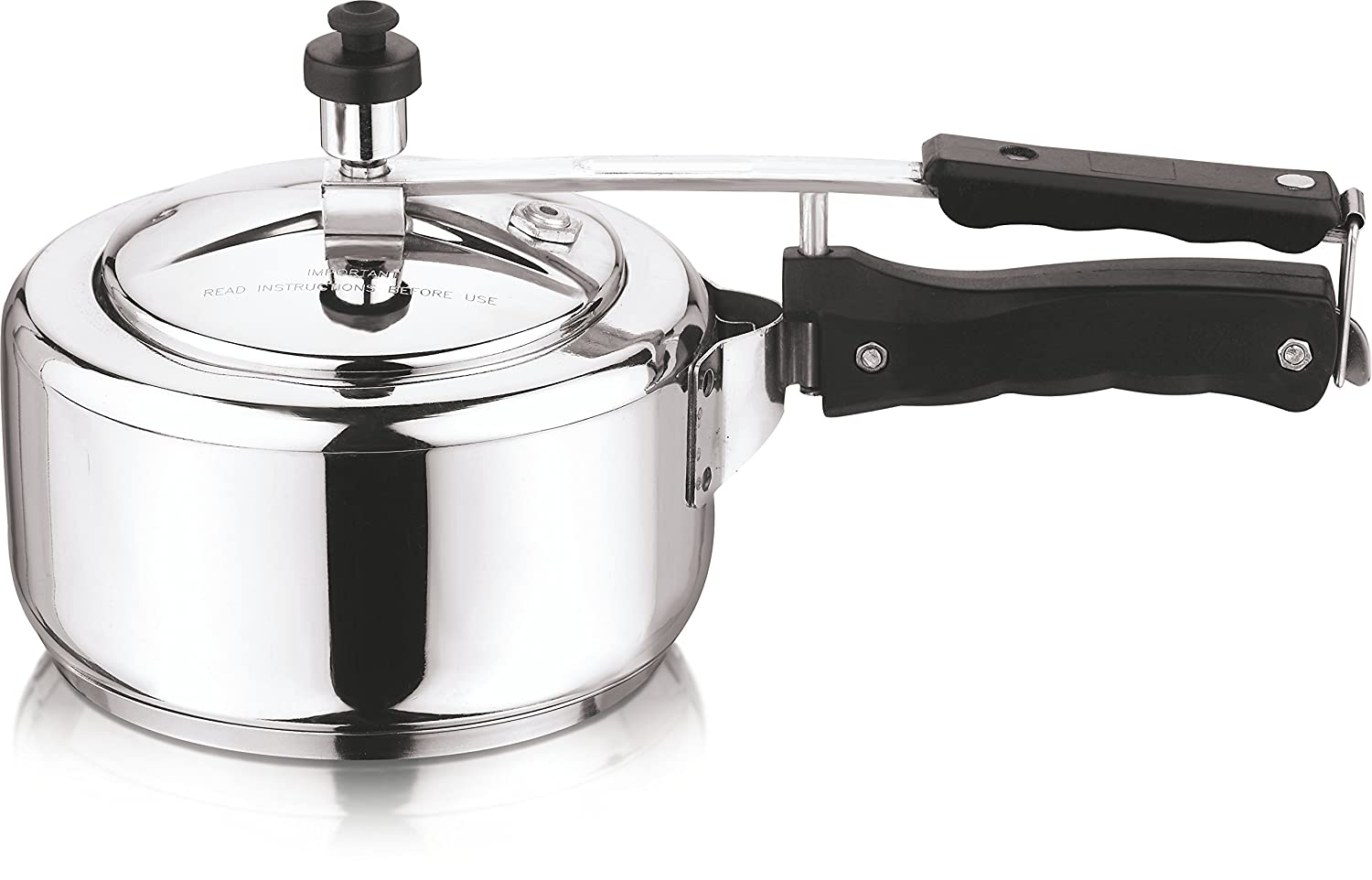 Vinod Stainless Steel Inner Lid Sandwich Bottom Pressure Cooker (2-Liter)