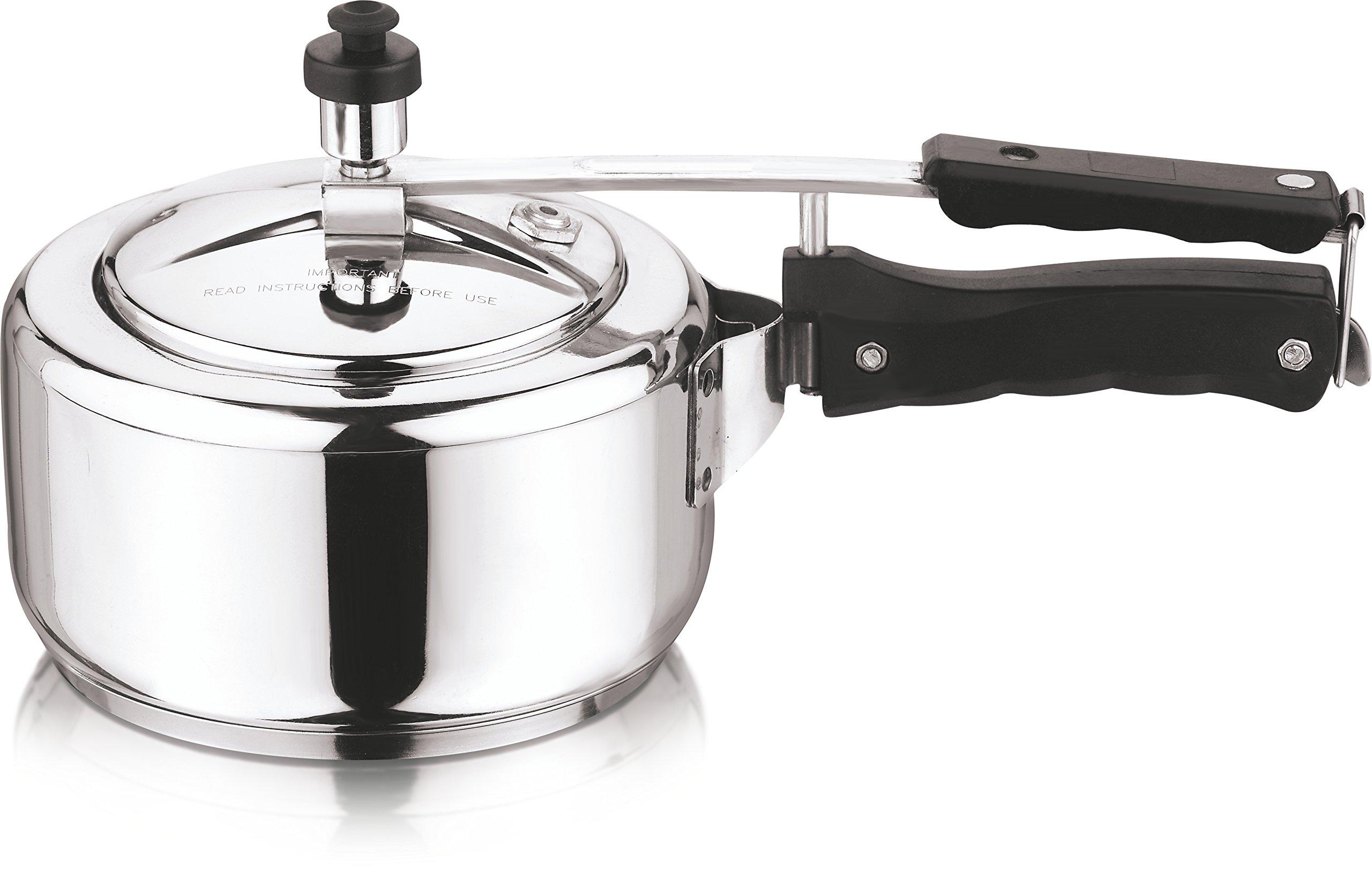 Vinod 2L Stainless Steel Inner Lid Sandwich Bottom Pressure Cooker, 2-Liter