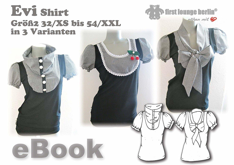 Evi Nähanleitung mit Schnittmuster für Blusen-Shirt in Gr. 32-54 ...