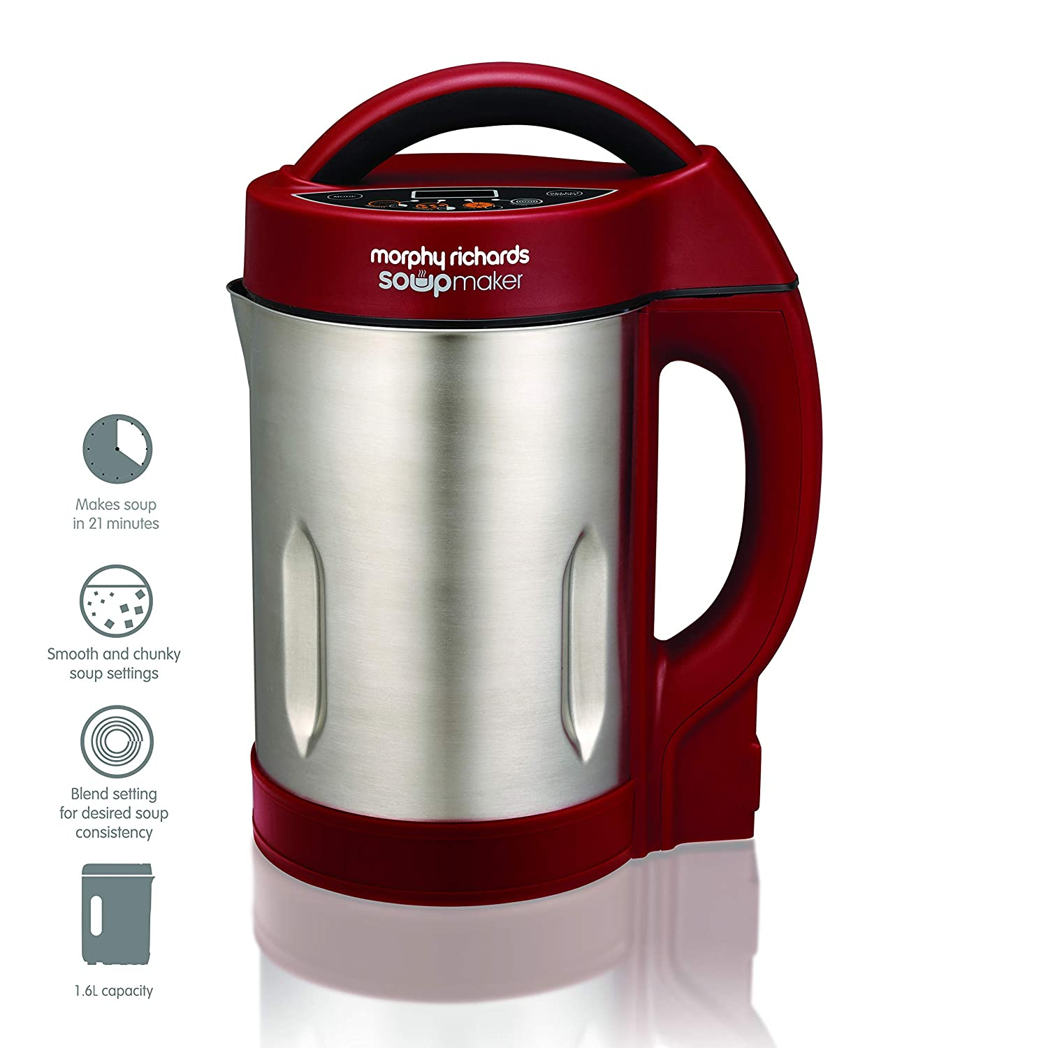 Morphy Richards Soup and Smoothie Maker 501018 Red Soupmaker and Smoothie Maker