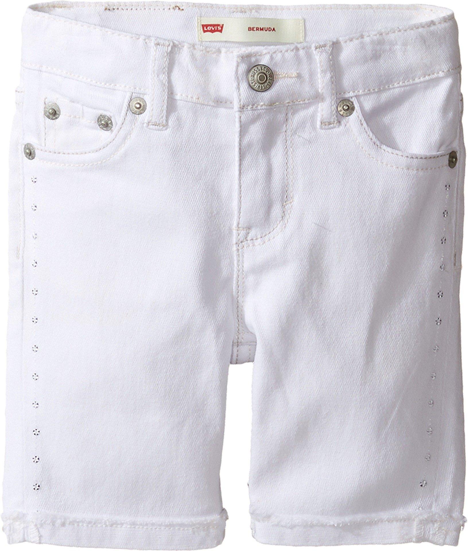 Levi's Kids Baby Girl's Sideseam Bermuda Shorts (Toddler) White Shorts by Levi's (Image #1)