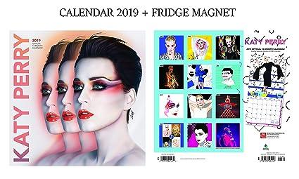Katy Perry Calendario oficial 2019 + Katy Perry imán para nevera ...