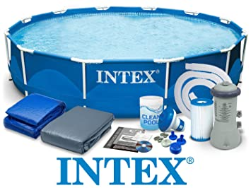 Intex 28212 366 x 76 cm 6 in1 6503l Steel Pro Frame Pool Pool - Juego Easy - Set de Jardín Piscina con accesorios: Amazon.es: Jardín