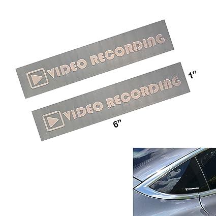 Amazoncom Video Recording Decal Sticker For Tesla Model 3