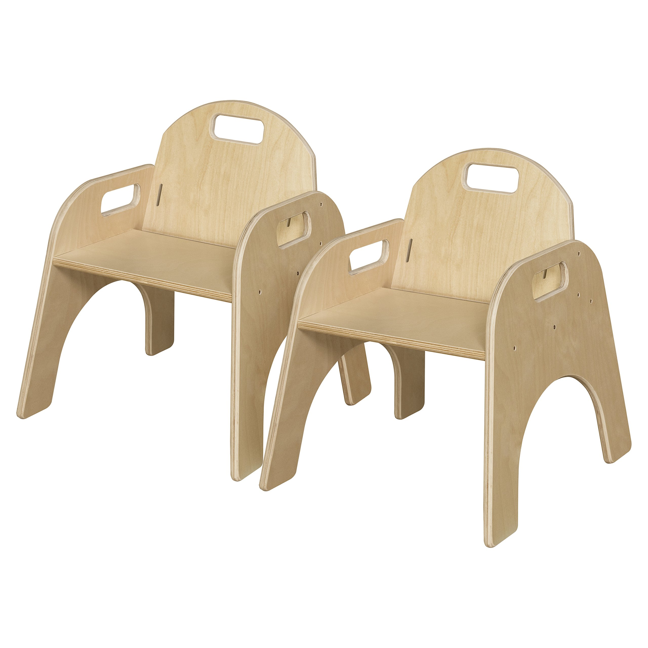 Wood Designs Stackable Woodie Kids Chair, 11'' High Seat, Set of 2