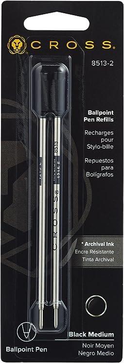 Cross Black Medium Ball Pen Refill #8513-2   2pack