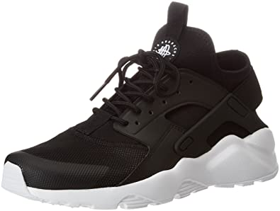 Nike Men's Air Huarache Run Ultra, Black/White (6 M US, Black