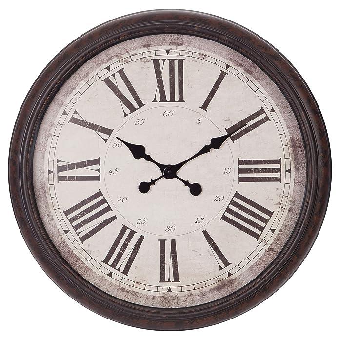 30u0022 Baldaud Roman Numeral Wall Clock Black - Patton Wall Decor