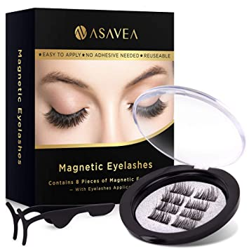 820c4ab2bf3 Magnetic False Eyelashes, 3D Black Dual Magnetic, Ultra Thick Ultra Solf  and Long for