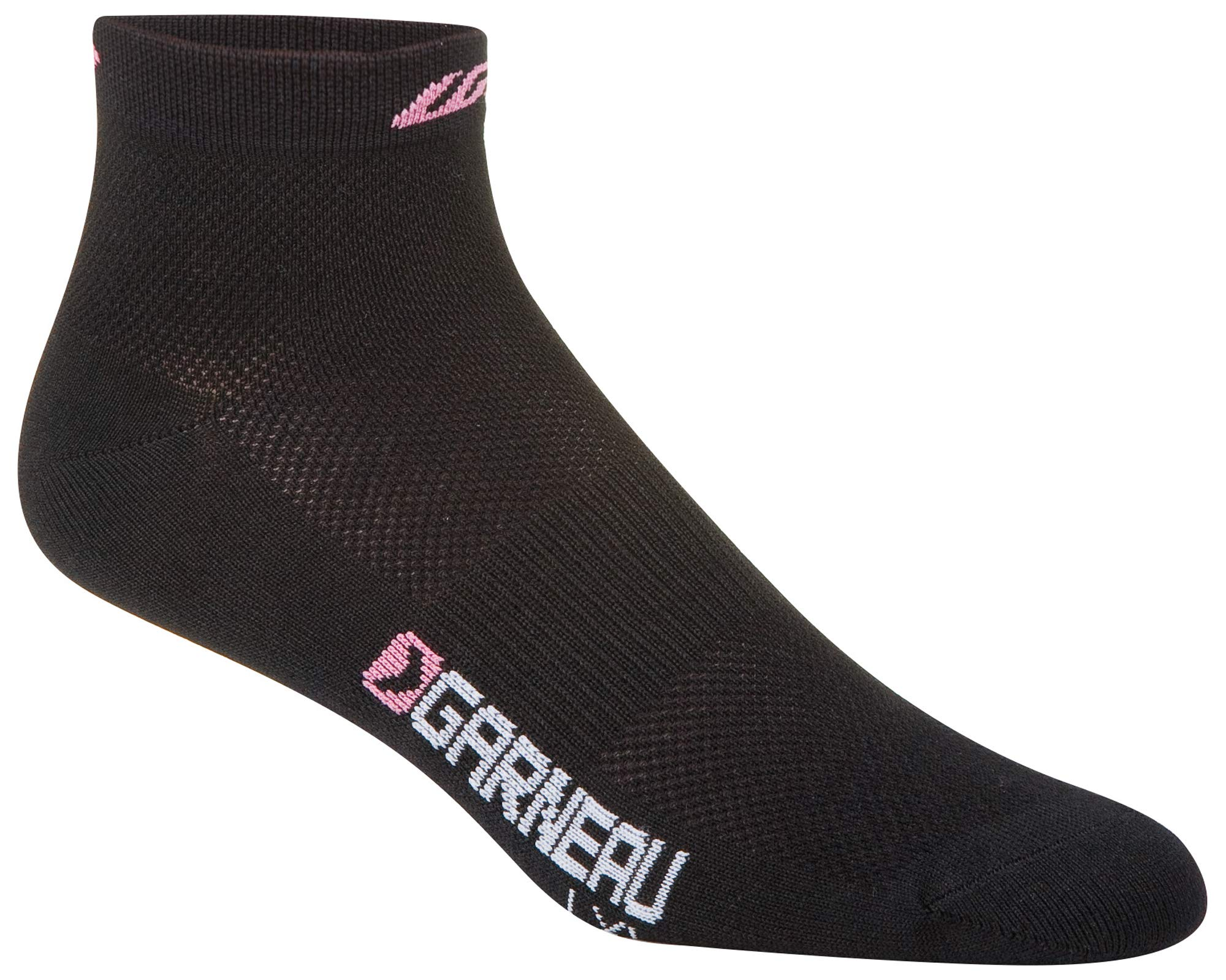 Louis Garneau Women's Low Versis Lightweight, Moisture Wicking Cycling Socks Cycling Socks 3-Pack, Rose Drummond, Large/X-Large by Louis Garneau