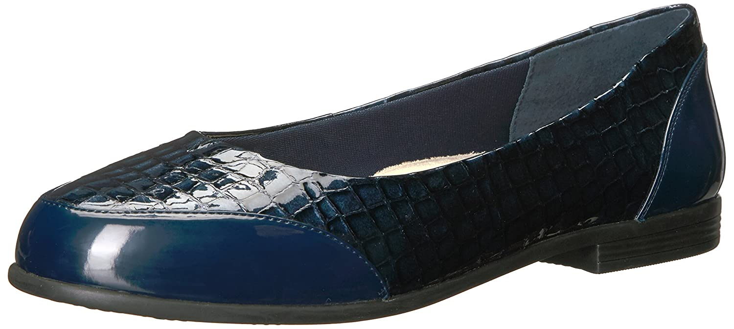 Trotters Women's Arnello Ballet Flat B01N6IS6QL 11 W US|Navy Crocodile