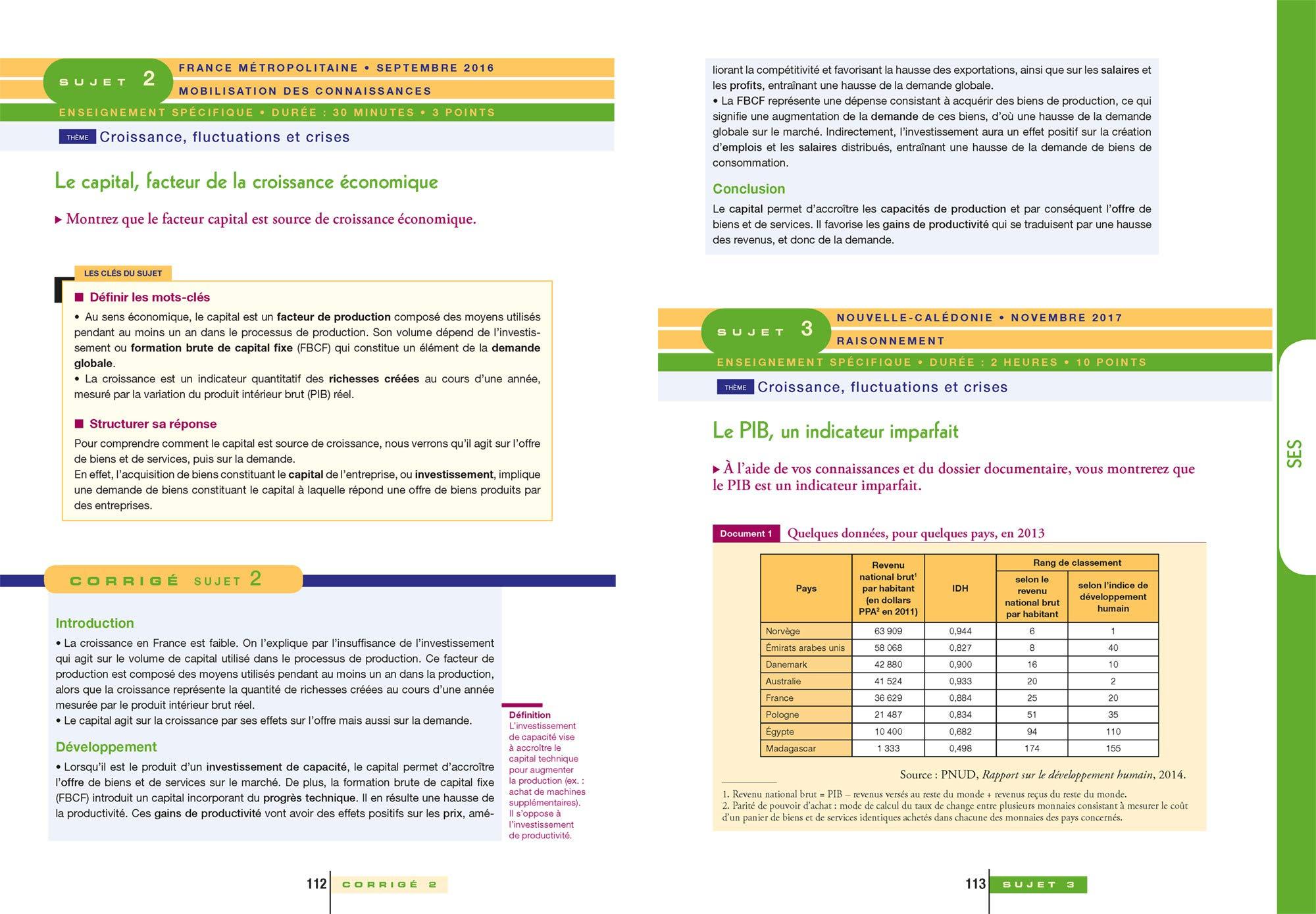 Lintégrale du Bac ES : Sujets & corrigés: 9782401045477: Amazon.com: Books