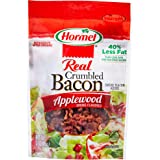 HORMEL Bacon Toppings Applewood Crumbled Bacon, 3 Ounce (Pack of 8)