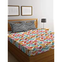 Portico New York Sparkle Printed Cotton 144 TC Double Bedsheet with 2 Pillow Cover 224 X 254 cm (Multicolour)