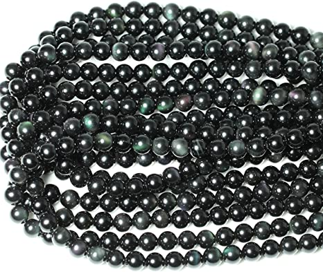 Wholesale Gemstone Beads Round Natural Stone Jewelry Beads Black Obsidian beads 4mm 6mm 8mm 10mm 12mm 5-200pcs