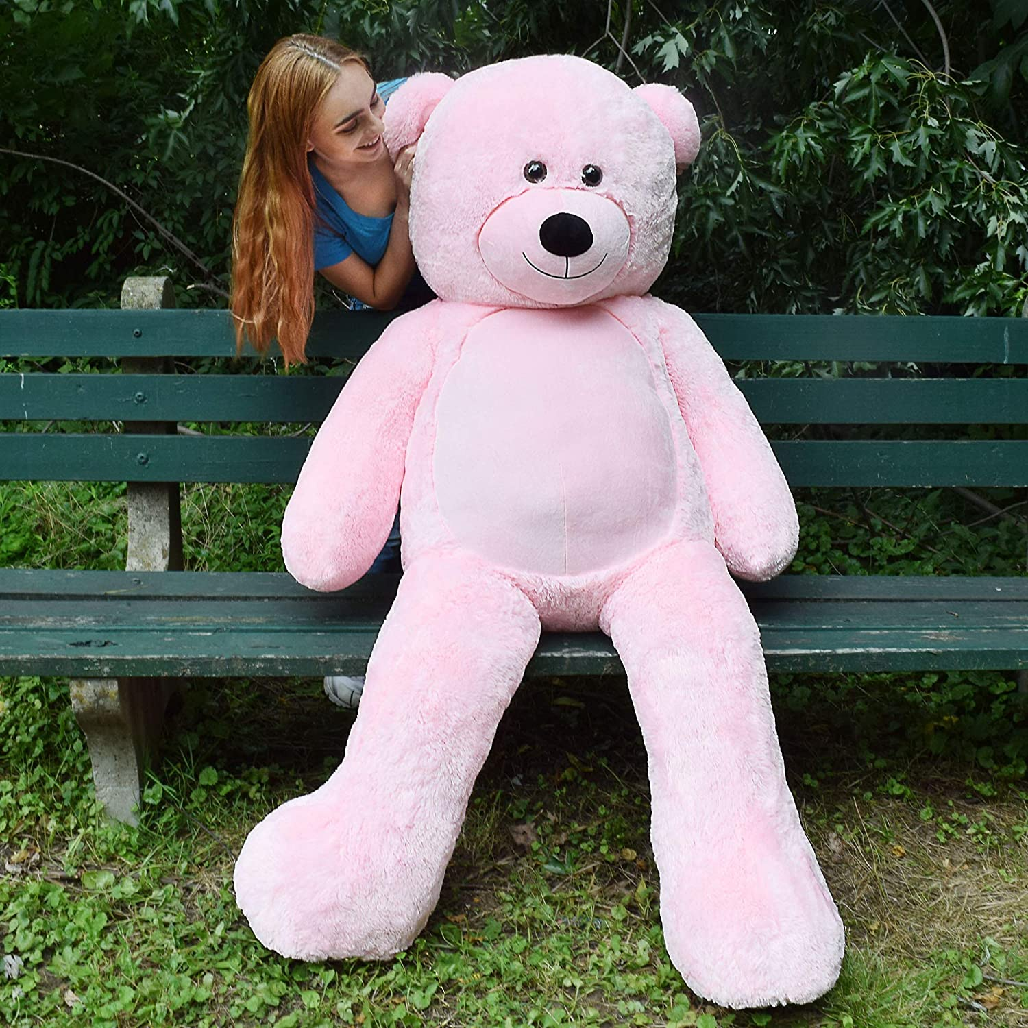 760ecb37de6 Amazon.com  WOWMAX 6 Foot Giant Huge Life Size Teddy Bear Danny Cuddly  Stuffed Plush Animals Teddy Bear Toy Doll for Birthday Christmas Pink 72  Inches  Toys ...