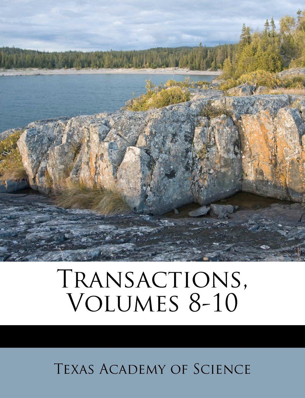 Download Transactions, Volumes 8-10 ebook
