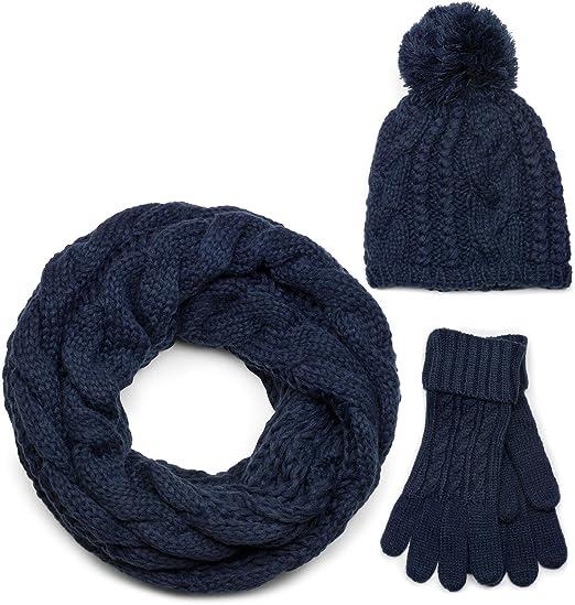 styleBREAKER Ensemble composé d une écharpe, d un bonnet et de gants ... 8c55332b2b6